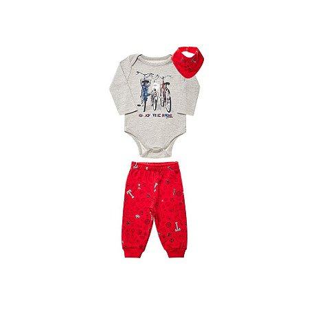 Conjunto Bebê Masculino - Calça Body e Bandana - Tholokko