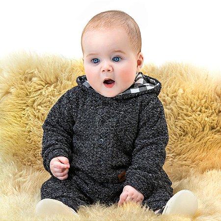 Macacão Longo Tweed Bebê Masculino - Biogas