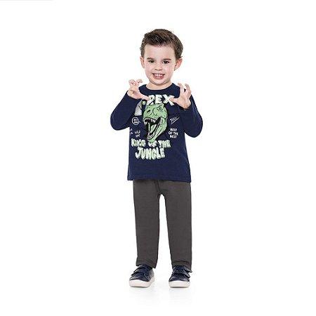 Conjunto de Moletom Infantil Masculino T-REX - Fakini