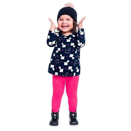 Conjunto Infantil Feminino Blusa Cachorrinho + Legging - Kyly