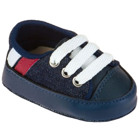 Tênis Masculino Bebê Azul Marinho com Listras Vermelha e Branca