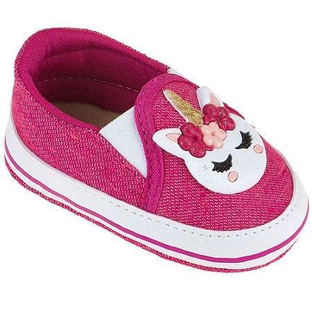 Tênis Bebê Iate Unicórnio Jeans/Pink
