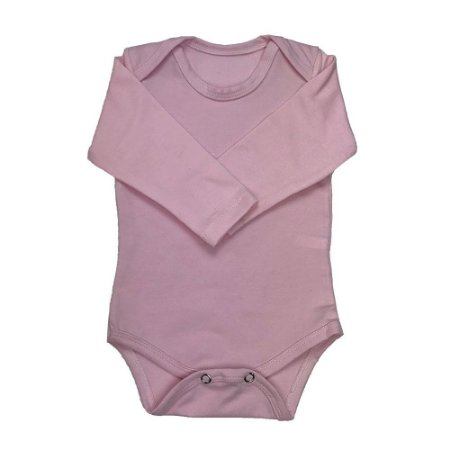 Body Manga Longa Rosa - Deka Baby & Kids Multimarcas