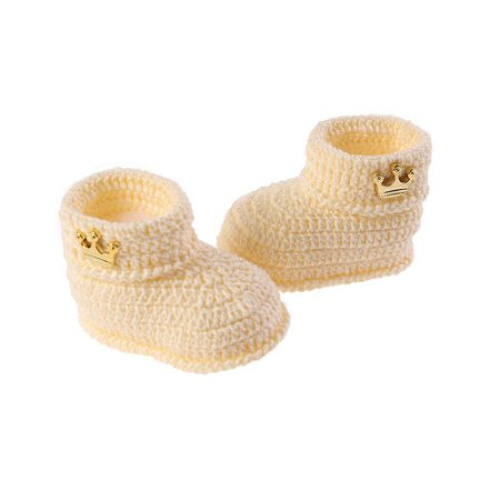 Botinha de Crochê Masculina Amarela