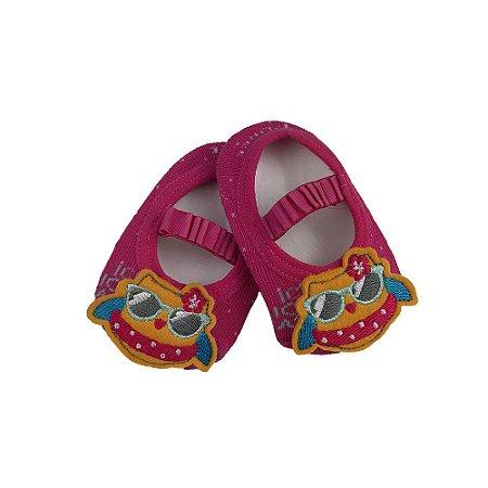 Meia Sapatilha Bebe Com aplique Coruja Fashion - Puket