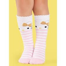 Meia Soquete Bebe Cano Alto Hello Kitty - Puket