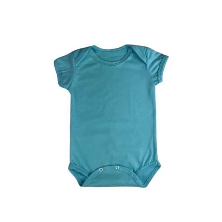 Body Manga Curta Envelope Azul