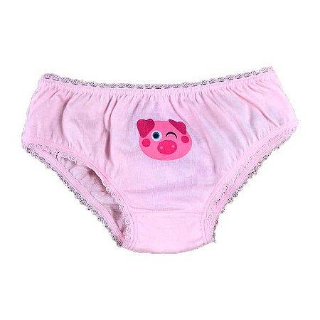 Calcinha Boneca Infantil Estampa Porquinho Fru-Fru - Puket