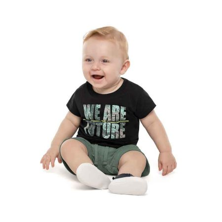 Conjunto Bebê Camiseta e Bermuda Estampa We Are Future