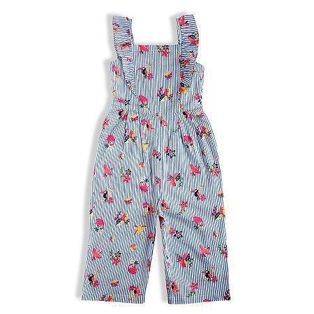 Macacão Bebê Menina Verão Regata Longo Azul Tip Top