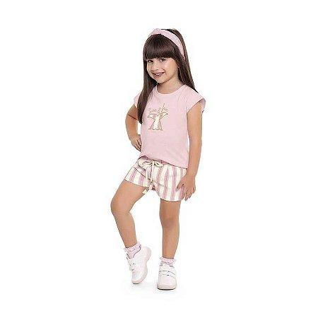 Conjunto Infantil Blusa e Shorts - Sun & Fun