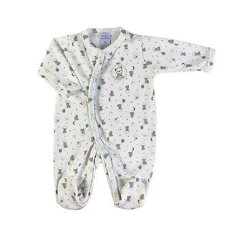 """Macacão Longo bebê Unissex """"Ursinho"""" -  Algodão Egípcio e Preteção UV+50 - Piu Piu"""