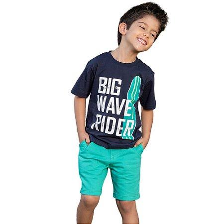"""Conjunto Masculino Camiseta e Bermuda  """"Big Wave Rider"""""""