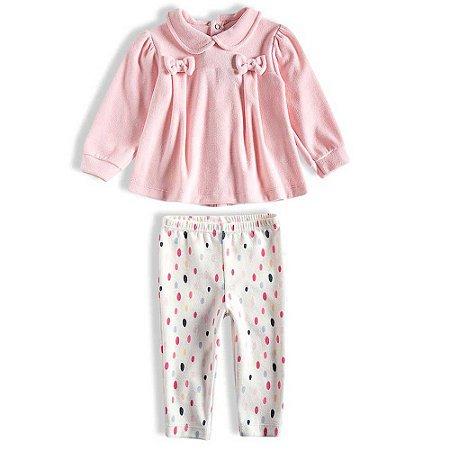 Conjunto Feminino Bebê Plush - Rosa - Tip Top