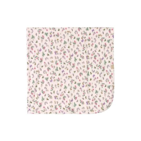 Manta em Suedine Floral/Borboletas - Rosa