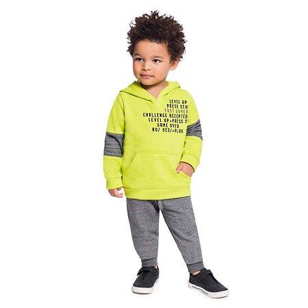 Conjunto Masculino Blusão Moletom com Capuz e Calça Jogger Verde