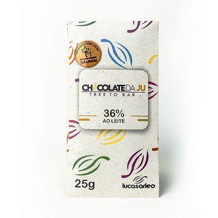 Chocolate da Ju 36% ao Leite com Cupuaçu 25g - CHOCOLATE DA JU