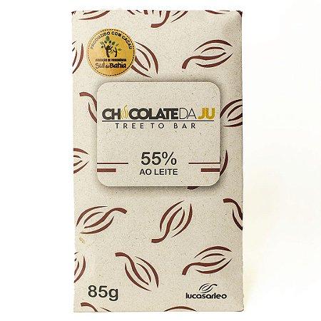 Chocolate da Ju 55% ao Leite 85g - CHOCOLATE DA JU