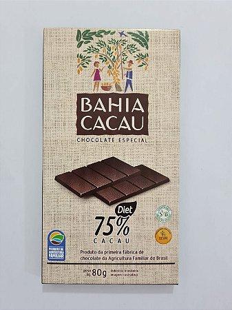 Barra de Chocolate 75% DIET 80g - BAHIA CACAU