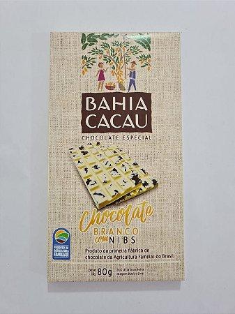 Barra de Chocolate Branco com Nibs 80g - BAHIA CACAU