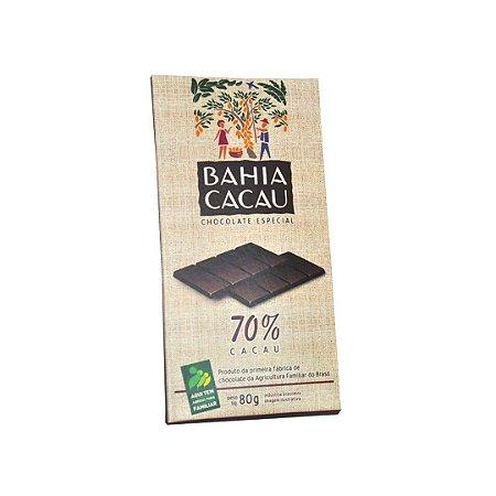 Barra de Chocolate Bahia Cacau  70% 80 g