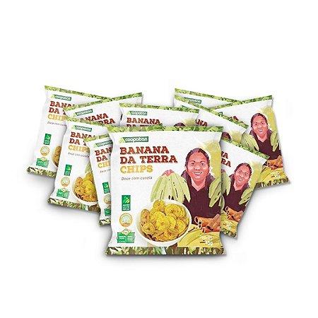 Banana da Terra Chips Doce com Canela 45 g - 10 unid