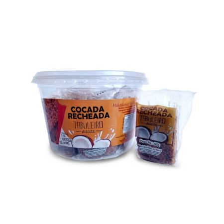Cocada Recheada Tabuleiro Deleite Pote 600g  (12 unidades)