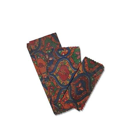 Kit com 3 Embalagens Ecológicas Estampa Mosaico