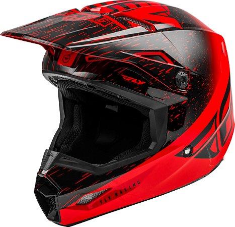 Capacete Motocross Enduro Trilha Fly Kinetic K120 Vermelho / Preto 52