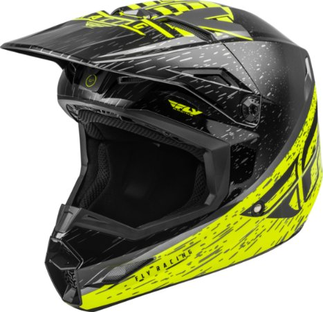 Capacete Motocross Enduro Trilha Fly Kinetic K120 Amarelo / Preto 60