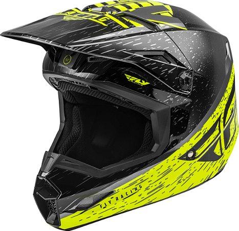 Capacete Motocross Enduro Trilha Fly Kinetic K120 Amarelo / Preto 58
