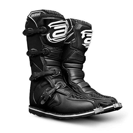 Bota Asw Preta Motocross Cano Longo Trilha Motocross TAMANHO 13 ( 44/45 )