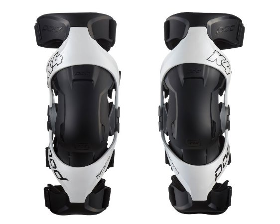 Par joelheira Motocross Enduro  Trilha Pod K4 2.0  branca