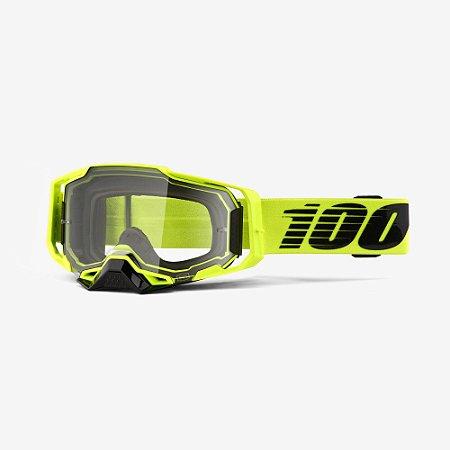 Oculos Motocross Enduro Trilha 100% Armega Transparente Verde