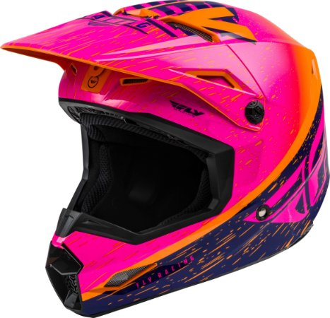 Capacete Motocross Enduro Trilha Fly Kinetic K120 ROSA / LARANJA 56