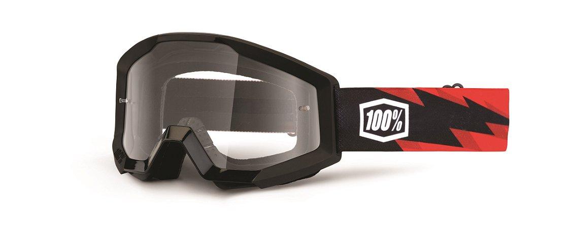 OCULOS 100% Motocross Enduro Trilha  STRATA CRISTAL SLASH PRETO