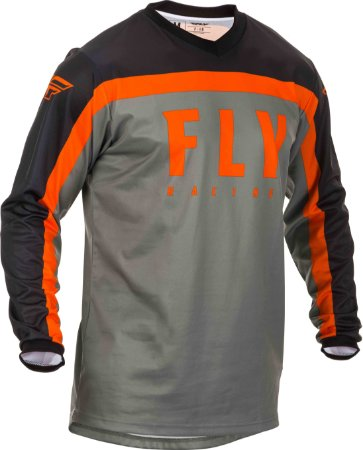 CAMISA MOTOCROSS ENDURO TRILHA FLY RACING F16 CINZA/LARANJA G
