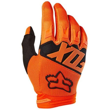 LUVA MOTOCROSS ENDURO TRILHA FOX RACING DIRTPAW LARANJA GG