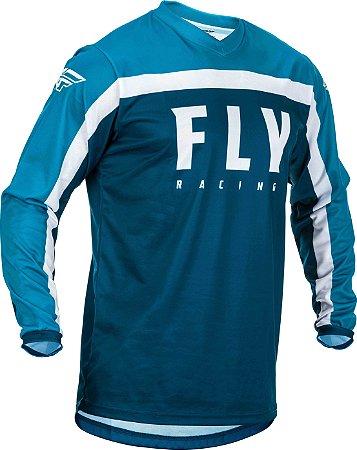 CAMISA MOTOCROSS ENDURO TRILHA  FLY F16 2020 AZUL GG