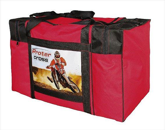 Bolsa Equipamentos Motocross Trilha Protercapas vermelha