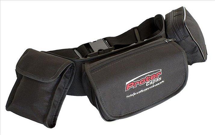 Pochete Bag Ferramentas Flex Preta Motocross Trilha PROTERCAPAS
