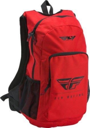 MOCHILA MOTOCROSS TRILHA NOTEBOOK  FLY RACING JUMP VERMELHA