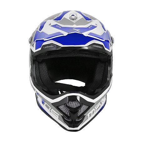 CAPACETE MOTOCROSS MATTOS RACING MX PRO MTTR AZUL TAM 58