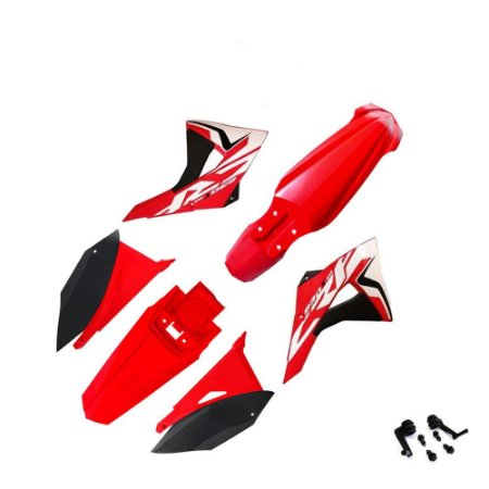 Kit Plástico El1te Biker Com Adesivos Honda Crf 230 Vermelho