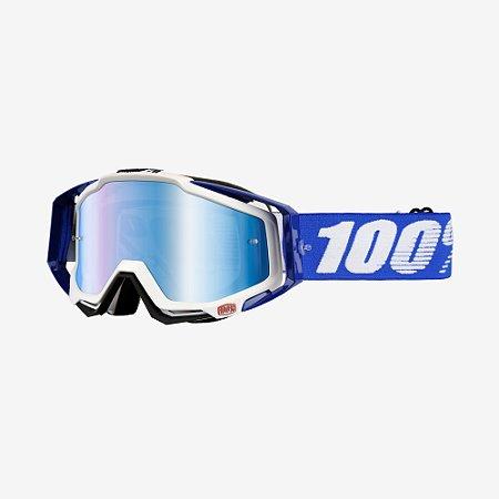 OCULOS 100% TRILHA RACECRAFT COBALT BLUE AZUL LTD BRANCO