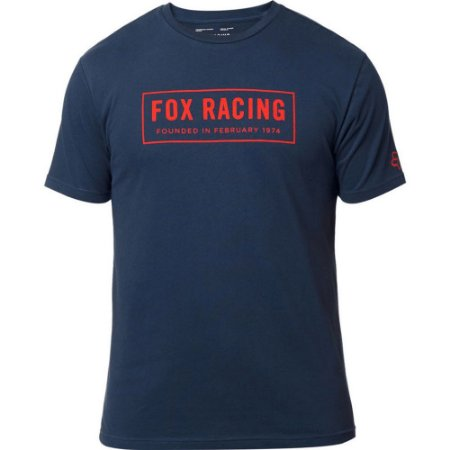CAMISETA FOX MOTOCROSS LIFESTYLE FOUNDED MIDNIGHT AZUL TAM G