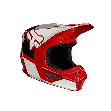 CAPACETE MOTOCROSS FOX MX V1 MIPS REVN FLAME VERMELHO TAM 58