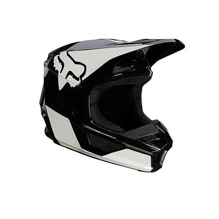 CAPACETE MOTOCROSS FOX MX V1 MIPS REVN PRETO BRANCO TAM 58