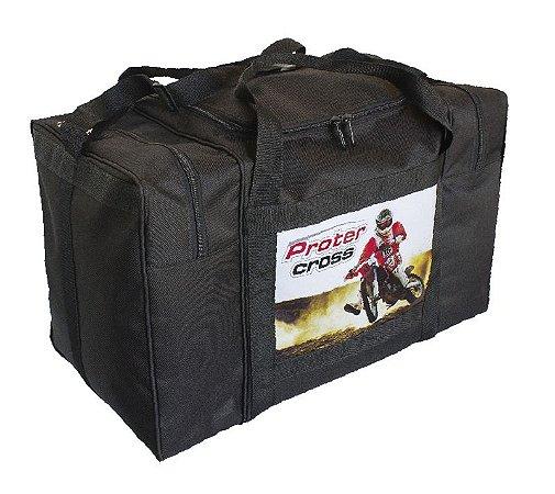 Bolsa Equipamentos Motocross Protercapas REFORÇADA PRETA
