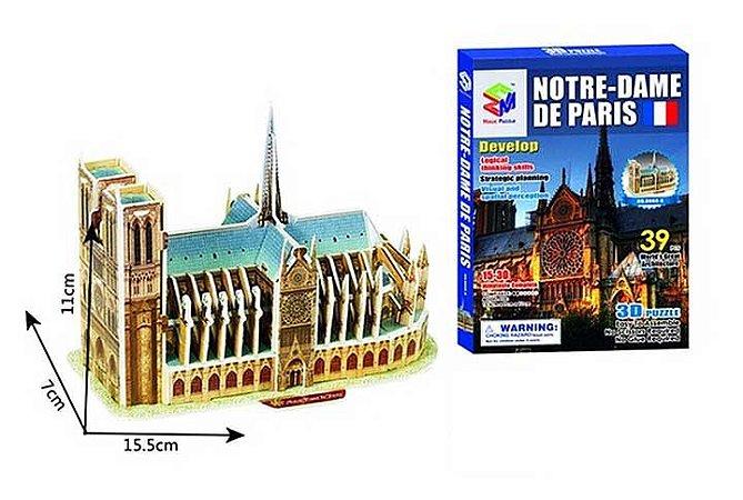 Quebra-cabeça 3d Catedral Notre Dame - Paris